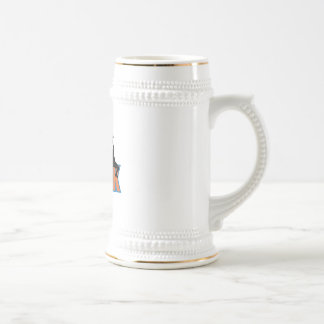 slam dunk basketball design beer stein