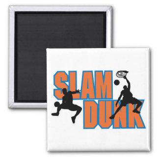 slam dunk basketball design fridge magnets
