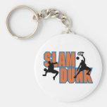 slam dunk basketball design keychains