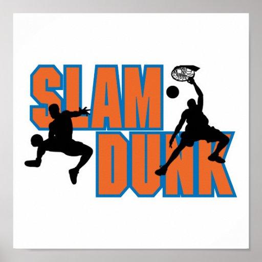 Slam Dunk Basketball Design Poster