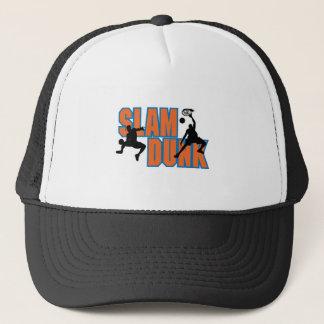 slam dunk basketball design trucker hat