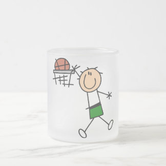 Slam Dunk Basketball Green T-shirts and gifts Frosted Glass Coffee Mug