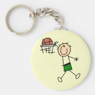 Slam Dunk Basketball Green T-shirts and gifts Keychain