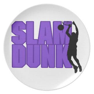 Slam Dunk Basketball Melamine Plate