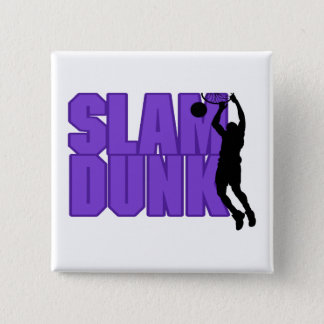 Slam Dunk Basketball Pinback Button