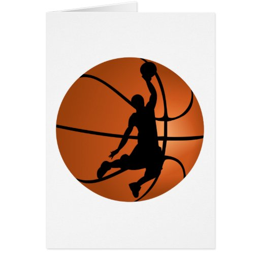 Slam Dunk Basketball Player Greeting Card