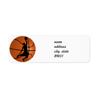 Slam Dunk Basketball Player Custom Return Address Label