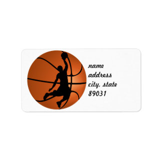 Slam Dunk Basketball Player Address Label