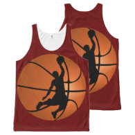 Slam Dunk Basketball Player on Basketball All-Over-Print Tank Top