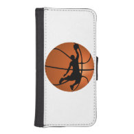 Slam Dunk Basketball Player on Basketball iPhone 5 Wallet