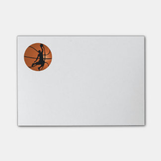 Slam Dunk Basketball Player on Basketball Post-it Notes