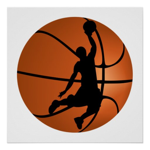 Slam Dunk Basketball Player Poster