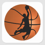 Slam Dunk Basketball Player Square Sticker