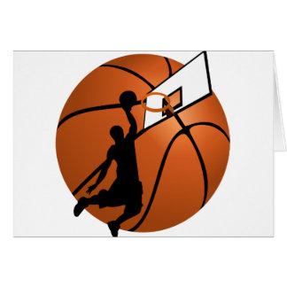 Slam Dunk Basketball Player w/Hoop on Ball Cards