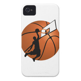 Slam Dunk Basketball Player w/Hoop on Ball iPhone 4 Case