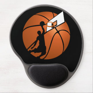 Slam Dunk Basketball Player w/Hoop on Ball Gel Mouse Pad