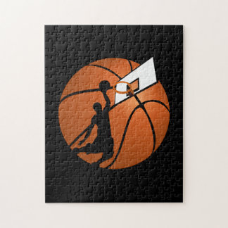 Slam Dunk Basketball Player w/Hoop on Ball Jigsaw Puzzle