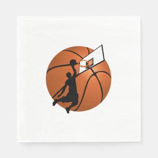 Slam Dunk Basketball Player w/Hoop on Ball Napkin
