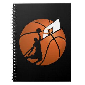 Slam Dunk Basketball Player w/Hoop on Ball Note Book