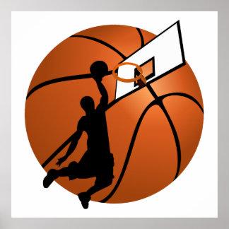 Slam Dunk Basketball Player w/Hoop on Ball Poster