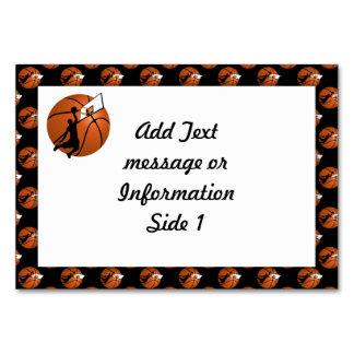 Slam Dunk Basketball Player w/Hoop on Ball Table Card
