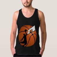Slam Dunk Basketball Player w/Hoop on Ball Tank Top