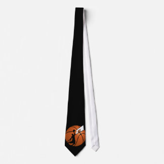 Slam Dunk Basketball Player w/Hoop on Ball Tie