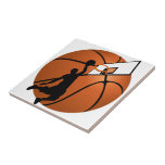 Slam Dunk Basketball Player w/Hoop on Ball Tile