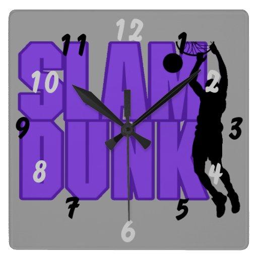 Slam Dunk Basketball Player Wall Clock