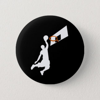Slam Dunk Basketball Player - White Silhouette Button