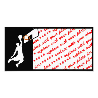 Slam Dunk Basketball Player - White Silhouette Card