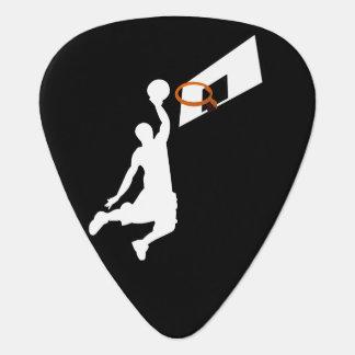Slam Dunk Basketball Player - White Silhouette Guitar Pick