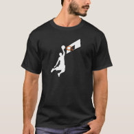 Slam Dunk Basketball Player - White Silhouette T-Shirt