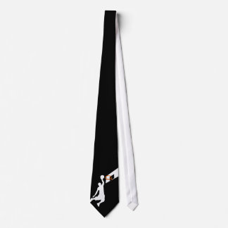 Slam Dunk Basketball Player - White Silhouette Tie