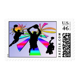 Slam Dunk Basketball Postage stamp