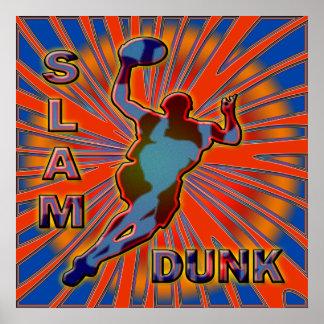 SLAM DUNK BASKETBALL POSTER PRINT