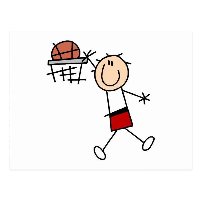 Slam Dunk Basketball - Red T-shirts and Gifts Postcard