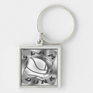 Slam Dunk Chrome Basketball Keychain