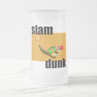 SLAM DUNK FROSTED GLASS BEER MUG