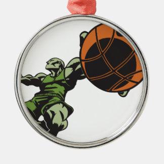 Slam Dunk Metal Ornament