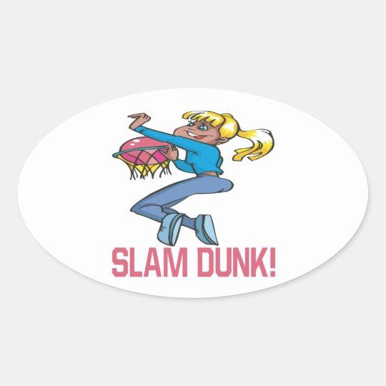 Slam Dunk Oval Sticker