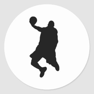Slam Dunk Player Silhouette Classic Round Sticker