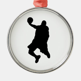 Slam Dunk Player Silhouette Metal Ornament