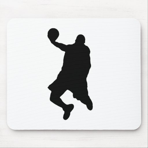 Slam Dunk Player Silhouette Mousepads