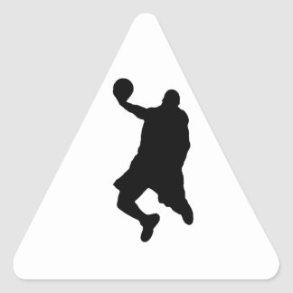 Slam Dunk Player Silhouette Triangle Sticker