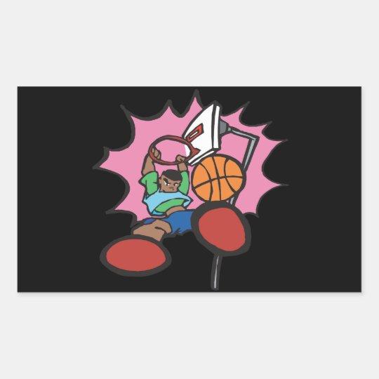 Slam Dunk Rectangular Sticker