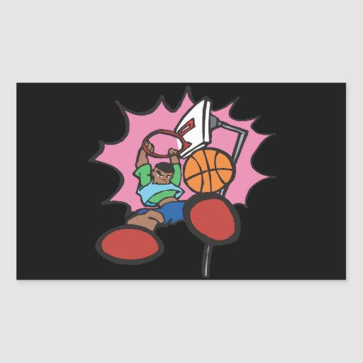 Slam Dunk Rectangular Stickers