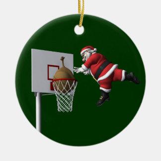 Slam Dunk Santa Claus Ceramic Ornament