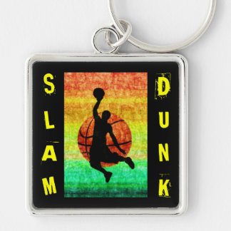 SLAM DUNK Silver-Colored SQUARE KEYCHAIN