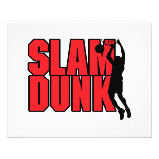 slam dunk text red and black flyer design